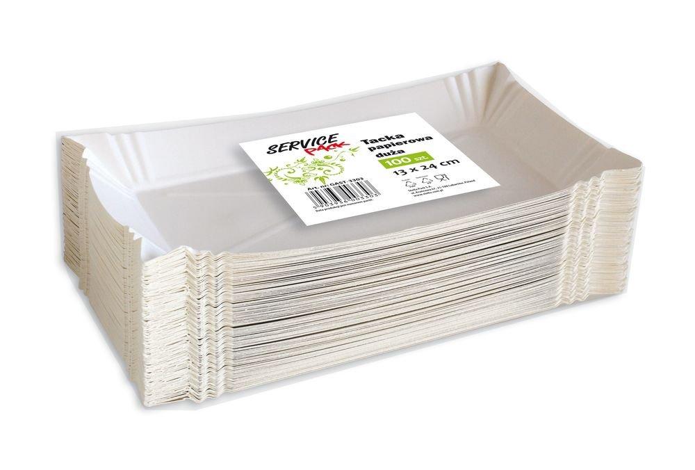 Tacka papierowa duża 100szt. KARTON