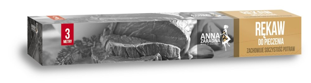 Rękaw do pieczenia 3m box z klipsami ANNA ZARADNA