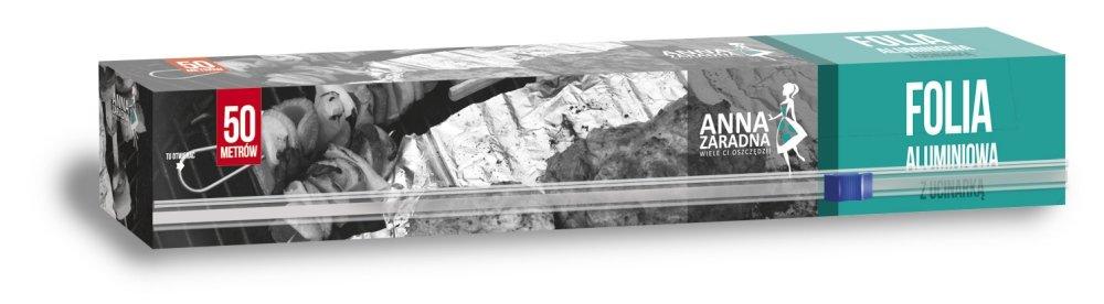 Folia aluminiowa 50m box z ucinarką ANNA ZARADNA