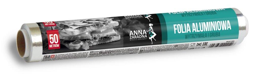 Folia aluminiowa 50m rolka ANNA ZARADNA