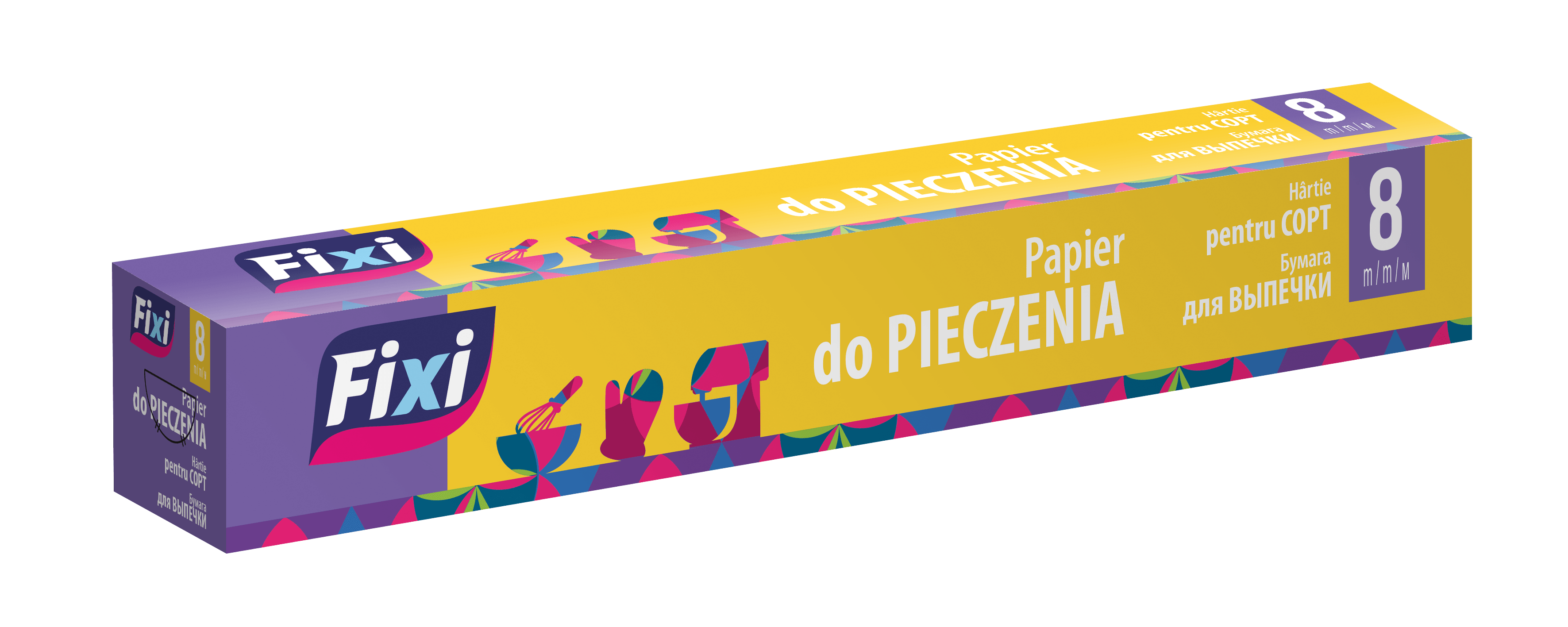 Papier do pieczenia 8m box FIXI