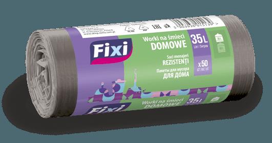Worki na śmieci DOMOWE HDPE 35L 50szt. FIXI