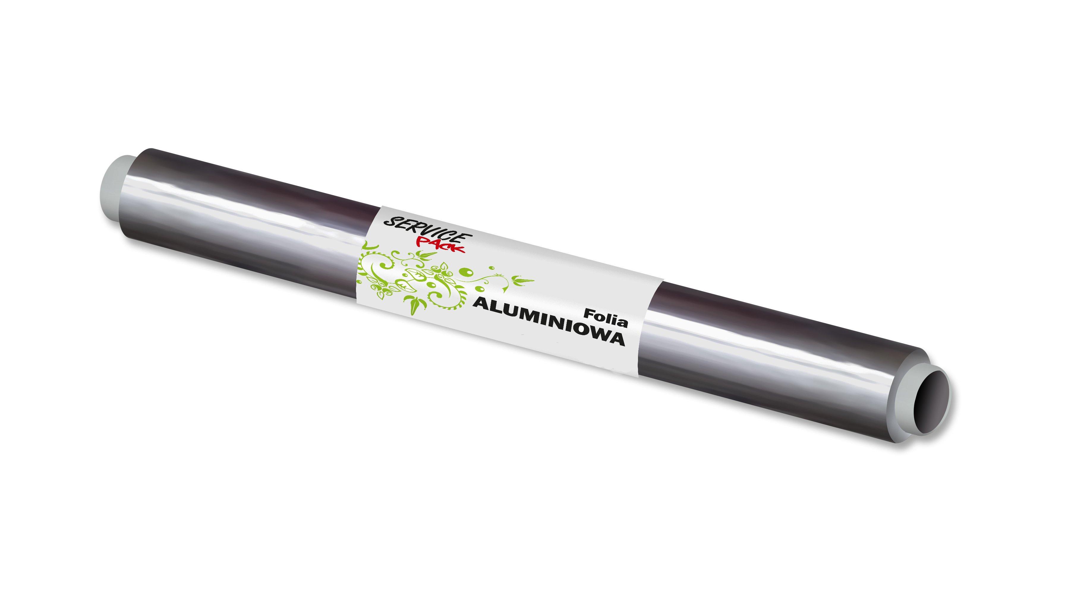 Folia aluminiowa 150m (9µm, szer.28cm) SERVICE PACK