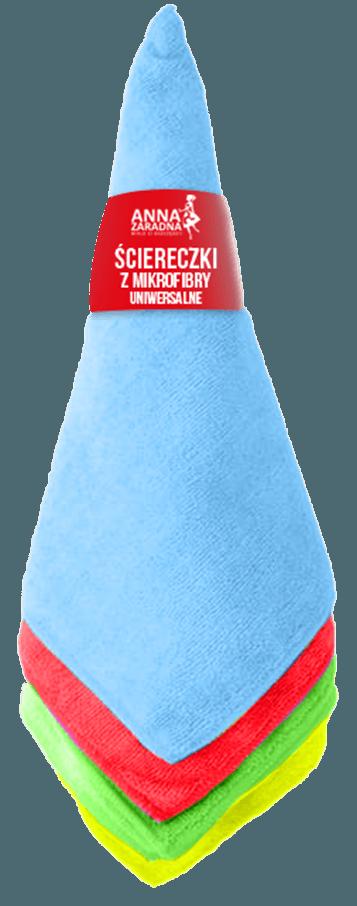 Ściereczki z mikrofibry uniwersalne 4szt ANNA ZARADNA