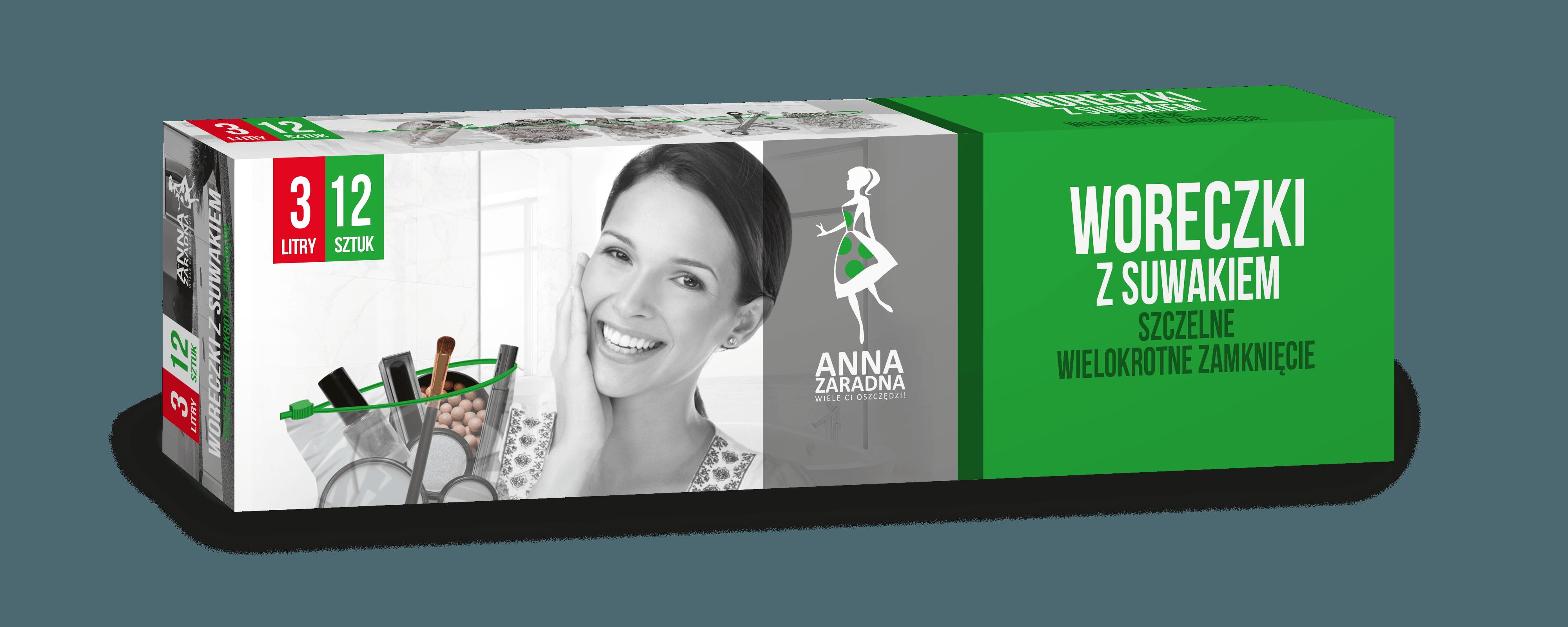Woreczki z suwakiem 3L 12szt box Anna Zaradna