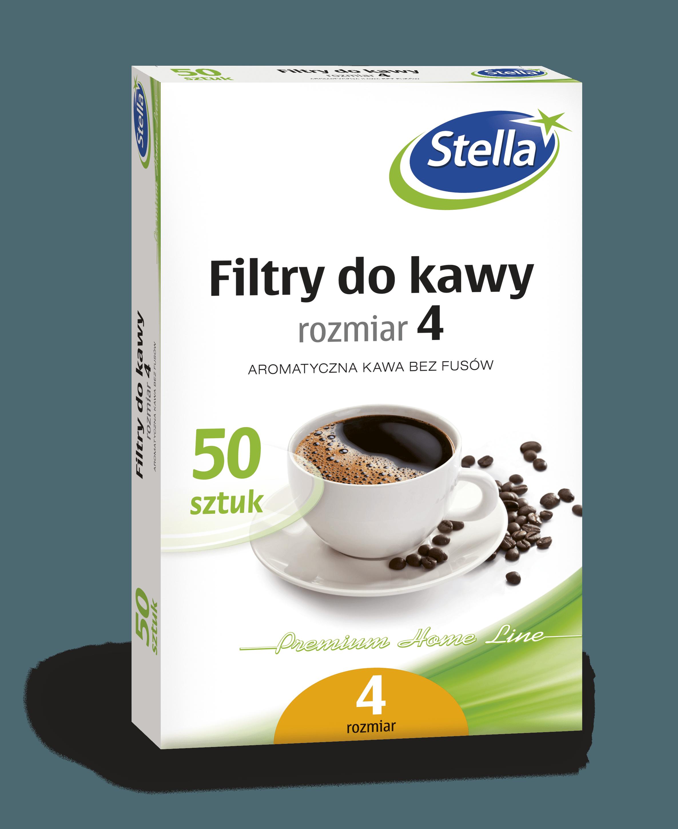 Filtry do kawy nr 4 50szt. box STELLA
