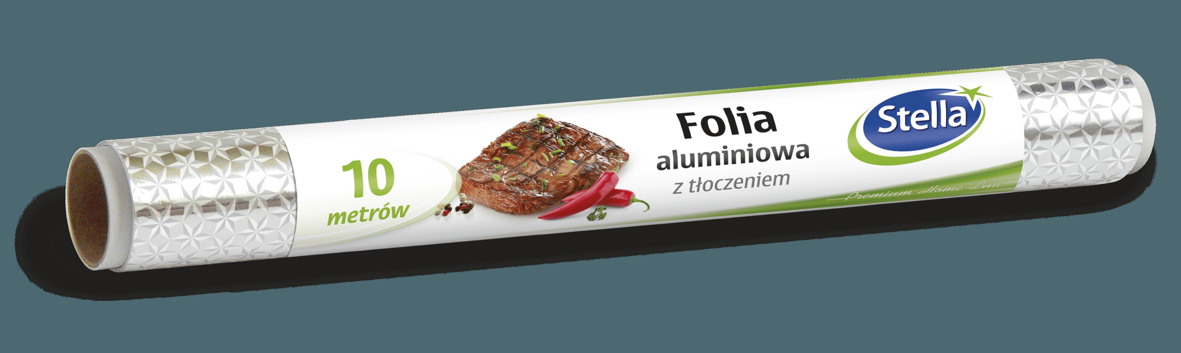 Folia aluminiowa z tłoczeniem 10m rolka STELLA