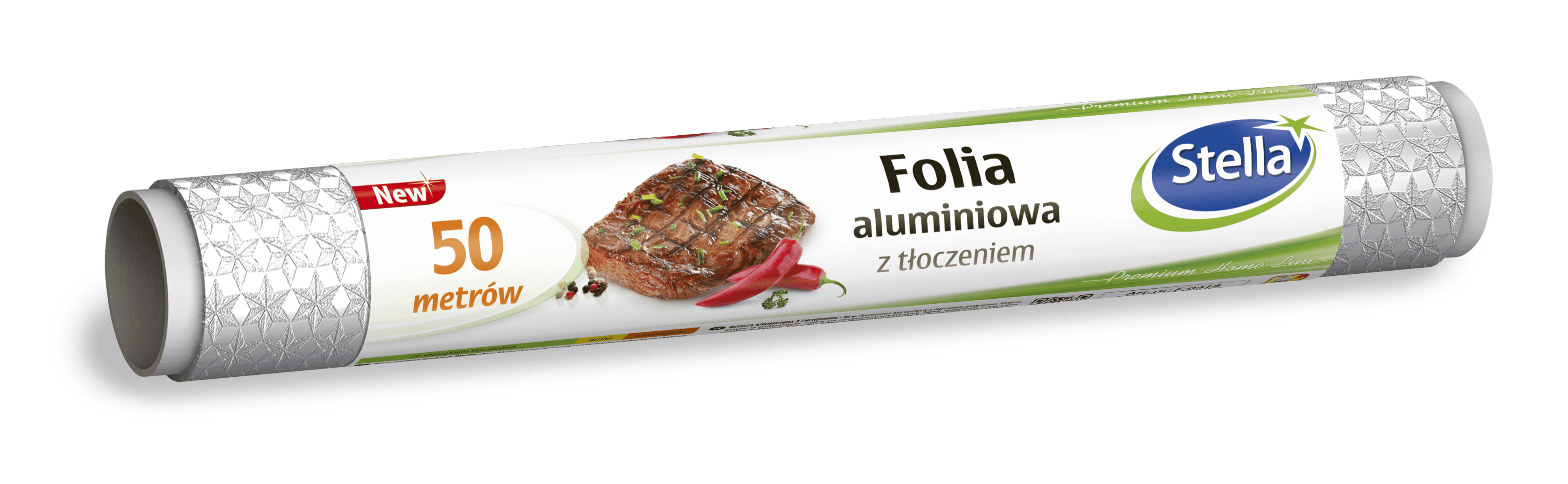 Folia aluminiowa z tłoczeniem 50m rolka STELLA