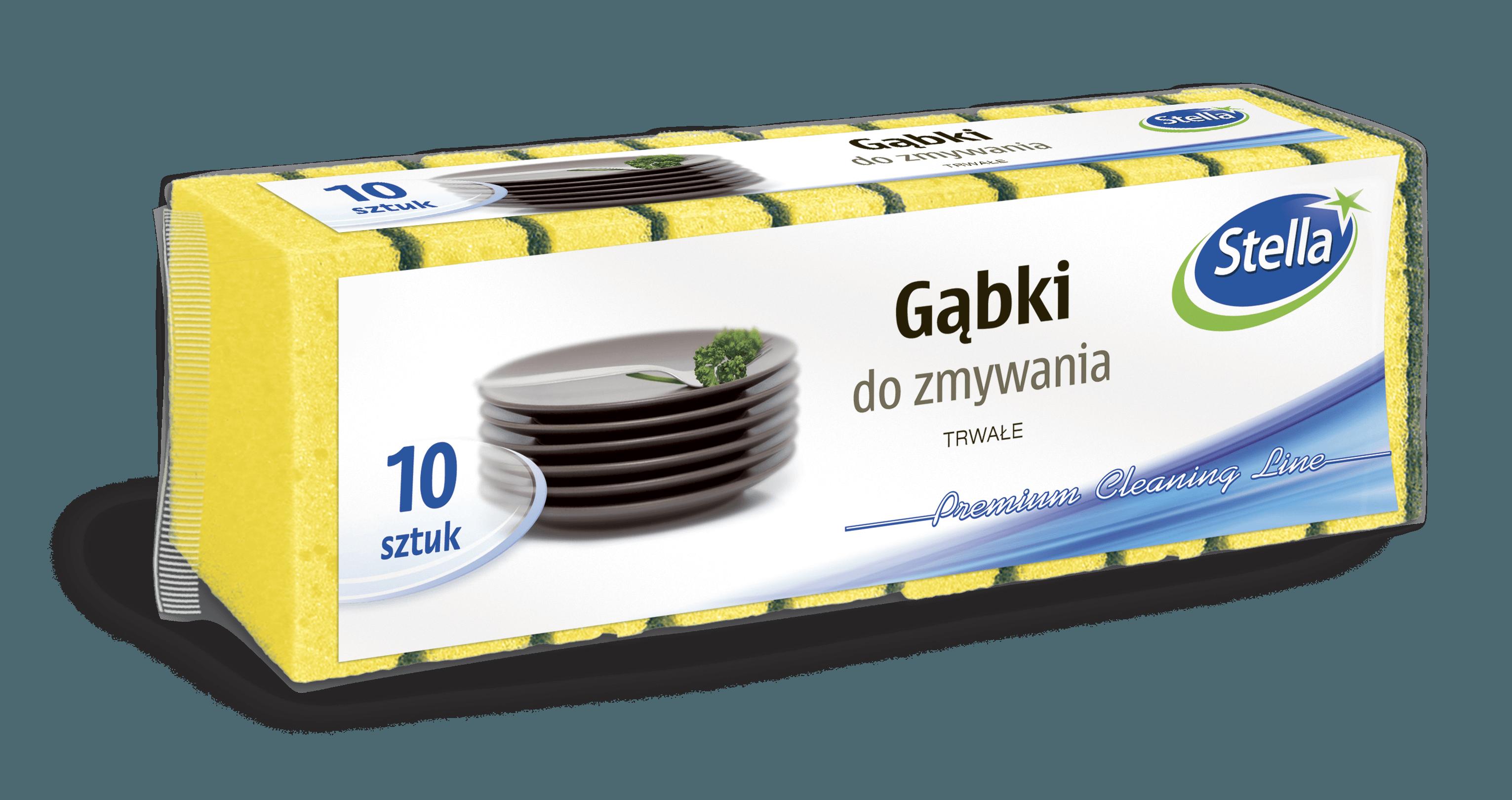 Gąbki do zmywania tradycyjne 10szt. STELLA