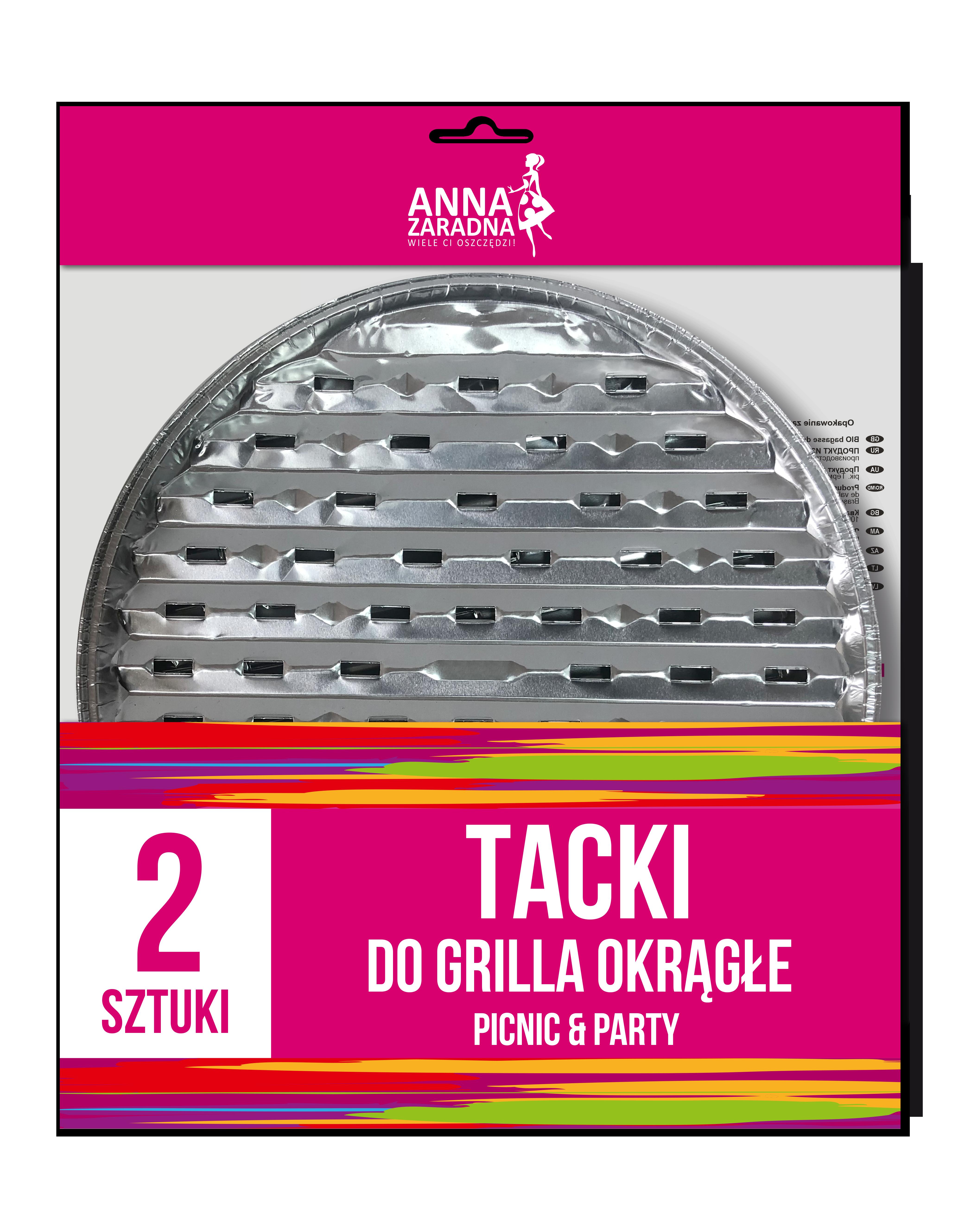 Anna Zaradna Tacki do grilla okrągłe 2szt
