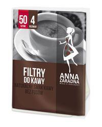 Filtry do kawy nr 4 50szt. ANNA ZARADNA