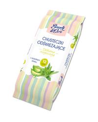 Chusteczki odświeżające z dodatkiem aloesu 12 szt. Beauty&Care