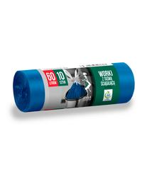 Worki na śmieci z taśmą ściągającą SUPERMOCNE 60L 10szt niebieskie Anna Zaradna