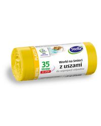 Worki z uszami do segregacji odpadów METAL PLASTIK 35L 20szt żółte STELLA