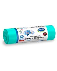 Worki na śmieci z taśmą ściągającą FRESH - świeży zapach 60L 10szt STELLA