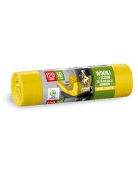 AZ Worki z uszami do segregacji odpadów PLASTIK METAL 120L 10szt żółte